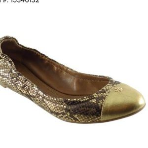 ✨Tory Burch ✨ Gold & brown ✨ Size 7
